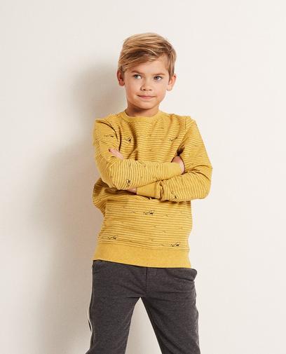 Sweatshirt mit Haiprint